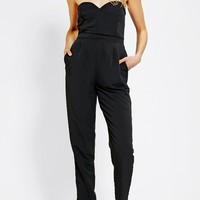 Urban Outfitters - Sparkle & Fade Strapless Sweetheart Jumpsuit