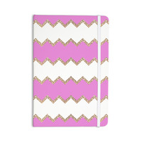 "Monika Strigel ""Avalon Pink Chevron"" Rose White Everything Notebook"