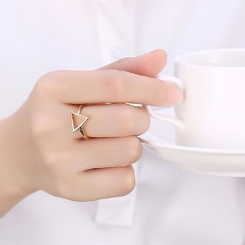 Gold Colour Triangle Ring