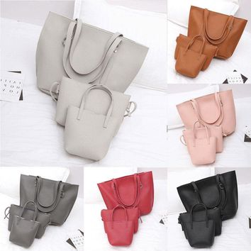 3pcs Women Leather Handbag Lady Shoulder Bags Tote Purse Messenger Satchel USA