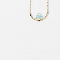 Totokaelo - Wwake Yellow Gold Opal Arc Necklace - $481.00