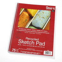 Darice 9-Inch-by-12-Inch Side Spiral Sketch Pad, 75-Sheets