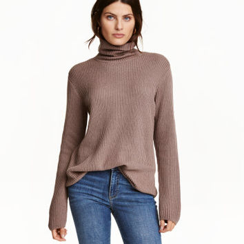 H&M Rib-knit Turtleneck Sweater $29.99
