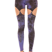 See You Monday  The Holy Smokes Garter Legging in Purple : Karmaloop.com - Global Concrete Culture