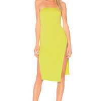 NBD Hadid Dress in Lime