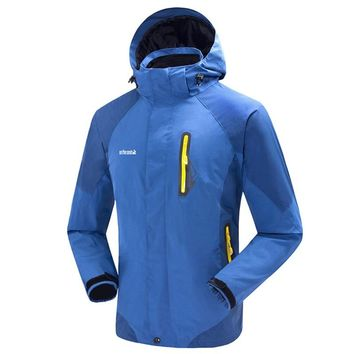 Men's Outdoor Fleece Liner Waterproof  Windrpoof 3 in 1 Ski Jacket Winter Climbing Skiing Snowboarding Jacket Men