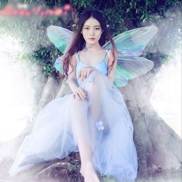 Angel Butterfly Wings Halloween Cosplay Costumes For Elf Fairy Women Girl