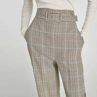 HIGH RISE TROUSERS WITH BELT