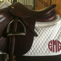 Saddle Pad/Baby Pad - Burgundy Galaxy Circle Applique by Brax Designs