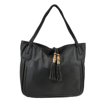 Big Buddha Jansen Vegan Hobo Bag (black)