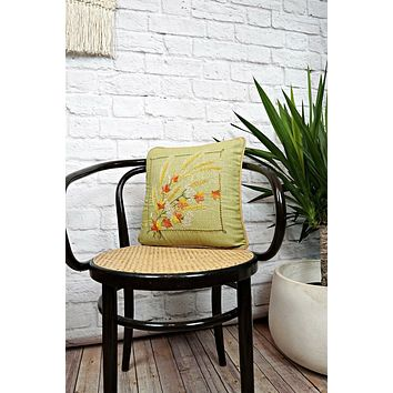 Vintage Hand Embroidered  Harvest Pillow