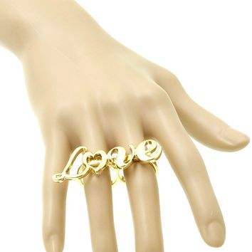 Love Message Two Finger Ring