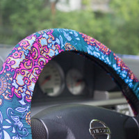 Steering wheel cover – steer cover – car decor, accessories – automobile gift, car gift