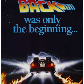 Back to the Future DeLorean Movie Poster 11x17