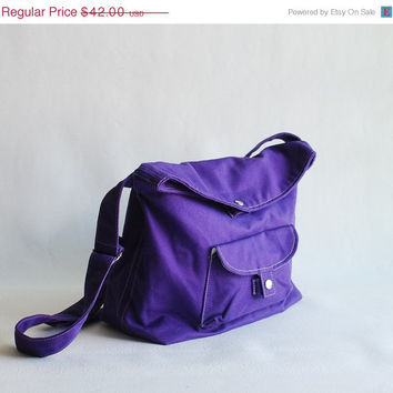 Labor Day Sale - BAGGO in Purple(Water Resistant) Laptop / Shoulder Bag / Messenger Bag / Tote / Handbag / Hip / Purse / Wallet / Sling Bag