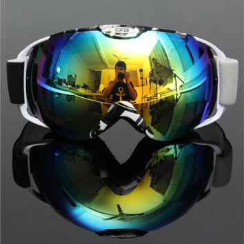 Unisex Professional Spherical Anti-fog Dual Lens Outdoor Snowboard Ski Goggle [8833405580]