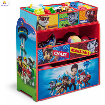 Children Nick Jr PAW Patrol MultiBin toys books Organizer 6-cells kids room play