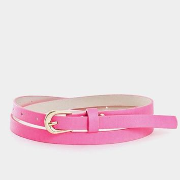Thin Statement Belt