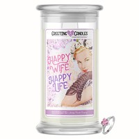 Happy Wife, Happy Life! | Jewelry Greeting Candle