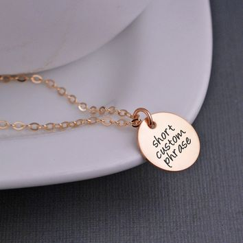 Design Your Own 5/8 inch Pendant Necklace - Gold