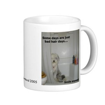 Beardie Bad Hair Day Classic White Coffee Mug