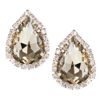 Johnny Loves Rosie | Erin Elizabeth For Johnny Loves Rosie Rhinestone Pear Studs at ASOS