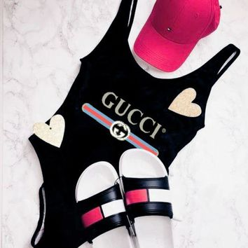 GUCCI Bathing Suits Women Fashion One Piece Swimwear Bikini Swimsuit