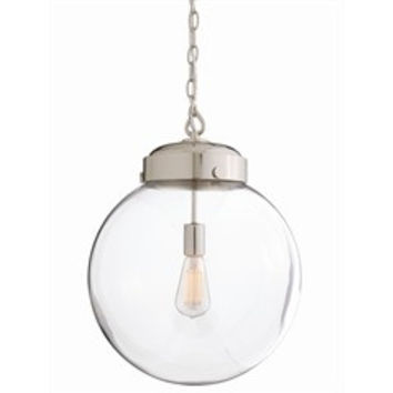 Reeves Round Glass Pendant Light