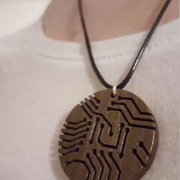 3D Printed Circuit Board Necklace
