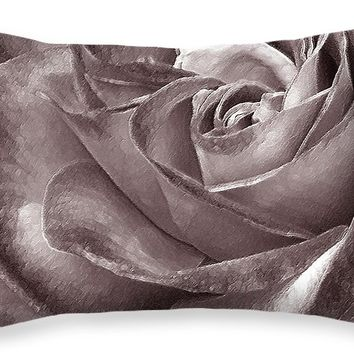 """Rose In Black And White Throw Pillow for Sale by Ben and Raisa Gertsberg - 20"""" x 14"""""""