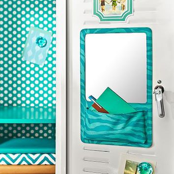 Gear-Up Pool Tonal Zebra Locker Mirror Pocket