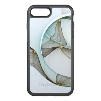 Abstract Modern Turquoise Brown Gold Elegance OtterBox Symmetry iPhone 7 Plus Case