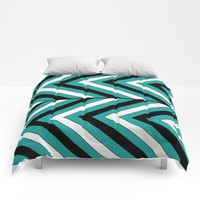 Pattern Turquoise 1 Comforters by LouJah