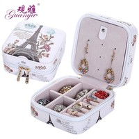 High grade fashion printed jewelry box jewelry casket  7 color for you choose love gift choice