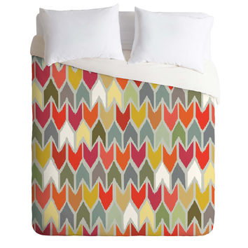 Sharon Turner Beach House Ikat Chevron Duvet Cover