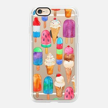 Colorful Casetify iPhone 7 Case | Watercolor Summer Ice Creams - Transparent Design by Micklyn Le Feuvre (iPhone 6s 6 Plus SE 5s 5c & more)