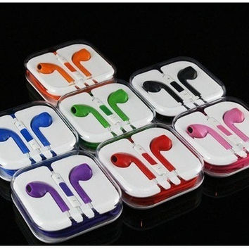 WHITE Apple Earpods Earphone Remote & Mic for ipad Iphone 5 5s 5c 8Color [7942586439]