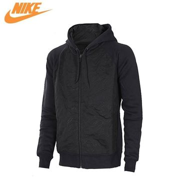 Nike Original New Arrival Official Hooded Jacket Mens Jordan Sports Outdoor Hoodie Jacket Black 819126-010