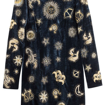 Embroidered Velvet Dress - Emilio Pucci | WOMEN | KR STYLEBOP.COM