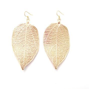 Giant Leaf Earrings