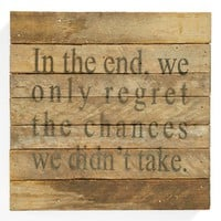 'Regret Chances' Wall Art