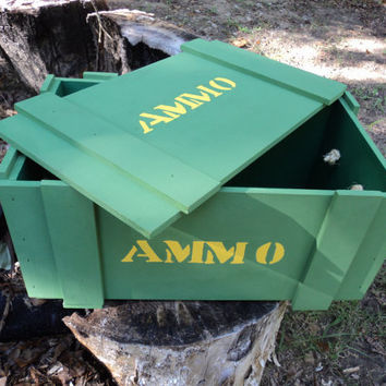 Ammo Box / Nurf hold box   Hand drawn/hand by JessiesPieces