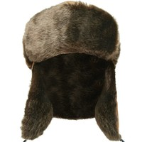 Men Faux Suede Trapper Hat