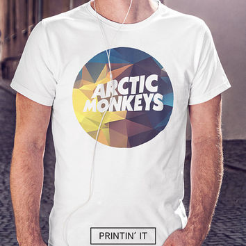 Arctic monkeys musical band logo 4 design options available - men's unisex t-shirt -  polygonal - geometric prints - music shirt