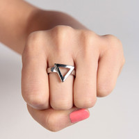 Triangle Outline Ring - 2020AVE