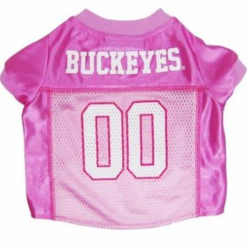 PEAPYW9 Ohio State Buckeyes Pink Dog Jersey