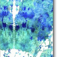 Blue And Aqua Abstract - Wishing Well - Sharon Cummings Metal Print