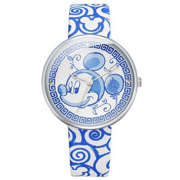 kids boys girls leather wrist watches children casual quartz clocks Cartoon waterproof Disney Mickey Citizen Movement MK-11039