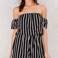 Call to Arms Off-the-Shoulder Romper