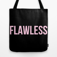 Flawless - Woke Up Like This B yonce Queen B Tote Bag by Rachel Additon